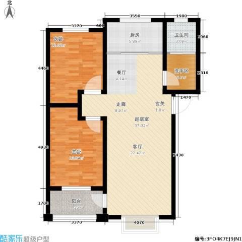中房青年城2室0厅1卫1厨91.00㎡户型图