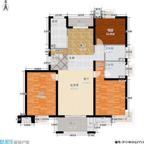 恒盛湖畔豪庭3室0厅2卫1厨140.00㎡户型图