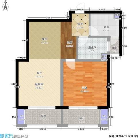 西上海名邸1室0厅1卫1厨75.00㎡户型图