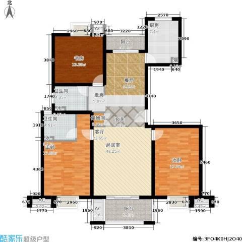 恒盛湖畔豪庭3室0厅2卫1厨139.00㎡户型图
