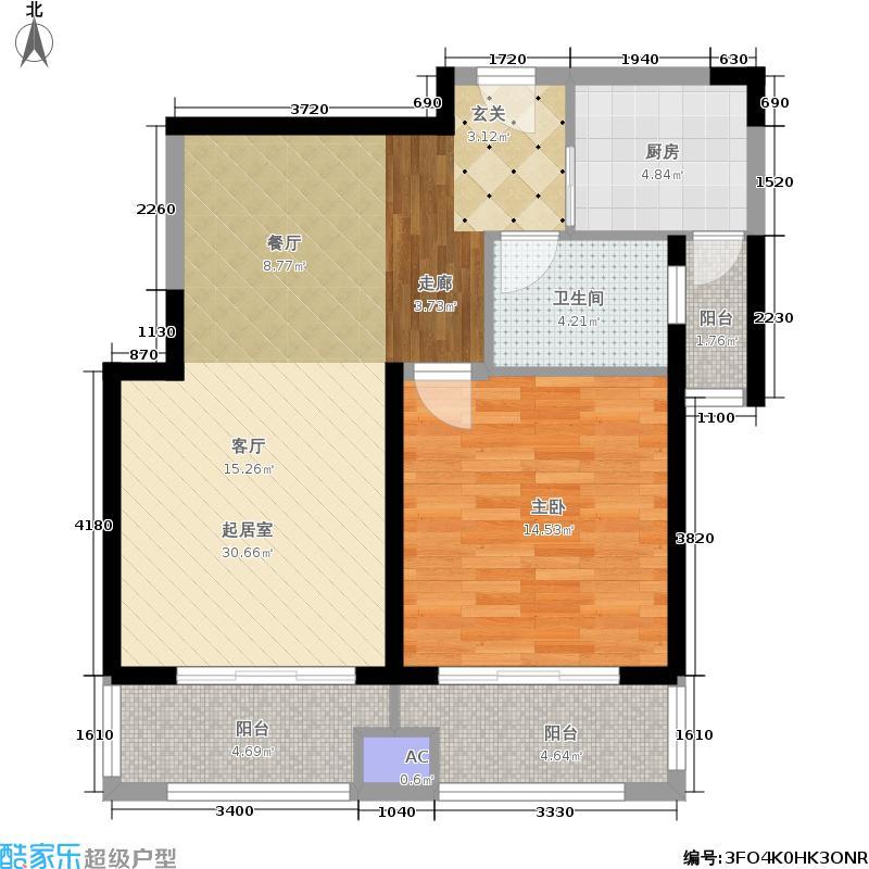 西上海名邸75.42㎡面积7542m户型