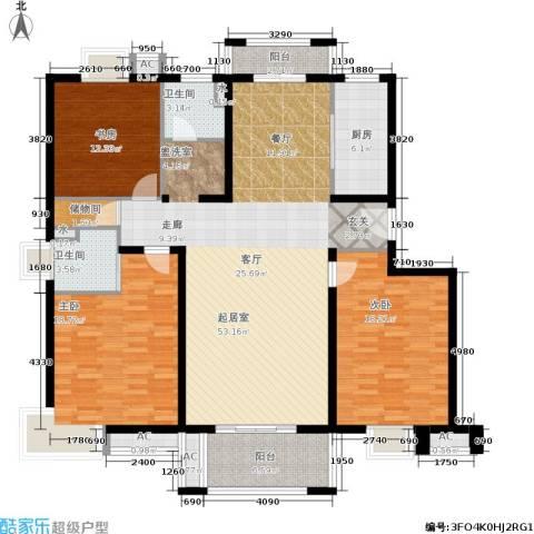 恒盛湖畔豪庭3室0厅2卫1厨147.00㎡户型图