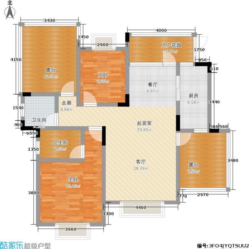 英利狮城花园80.00㎡一期3、6号楼标准层B7户型