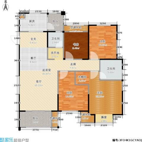 金科中心4室0厅2卫1厨137.00㎡户型图