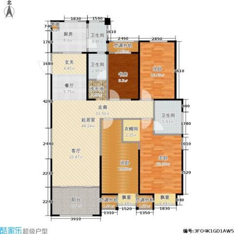 金科中心4室0厅3卫1厨143.00㎡户型图