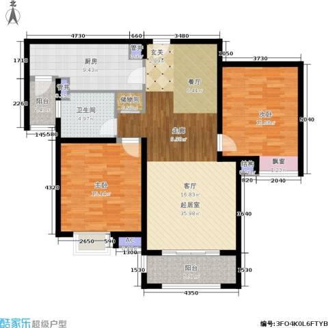 宝地东花园2室0厅1卫1厨104.00㎡户型图