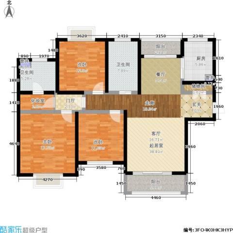 西上海名邸3室0厅2卫1厨133.00㎡户型图