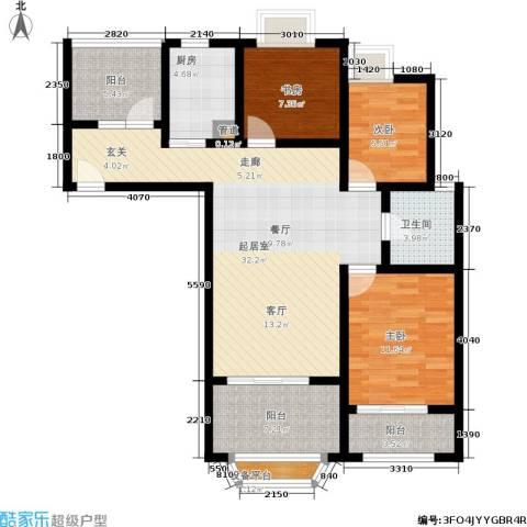 金城丽景3室0厅1卫1厨109.00㎡户型图