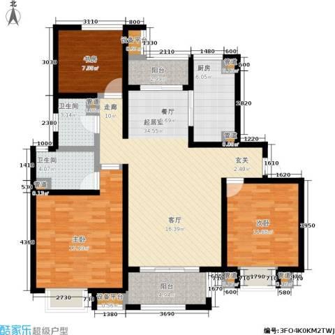 农房万祥金邸3室0厅2卫1厨112.00㎡户型图
