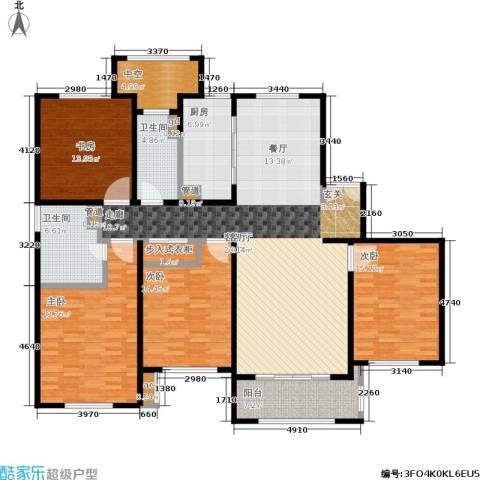 宝华海尚郡领4室1厅2卫1厨163.00㎡户型图