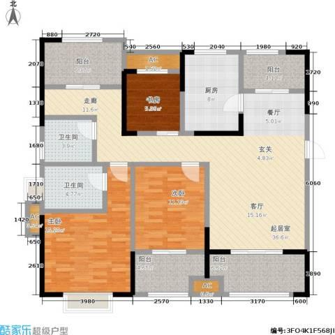 昆山颐景园3室0厅2卫1厨127.00㎡户型图