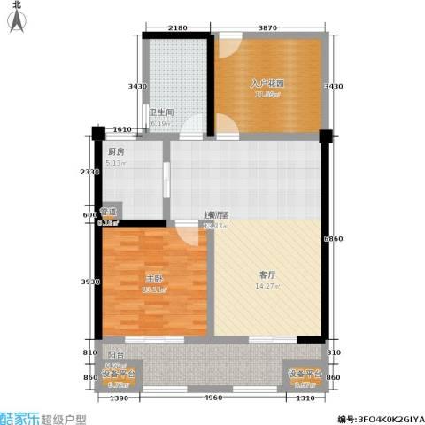 常发香城湾1室0厅1卫1厨86.00㎡户型图