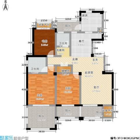 常发香城湾3室0厅2卫1厨140.00㎡户型图