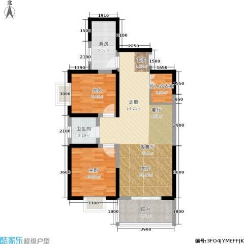 首府尚苑2室1厅1卫1厨96.00㎡户型图