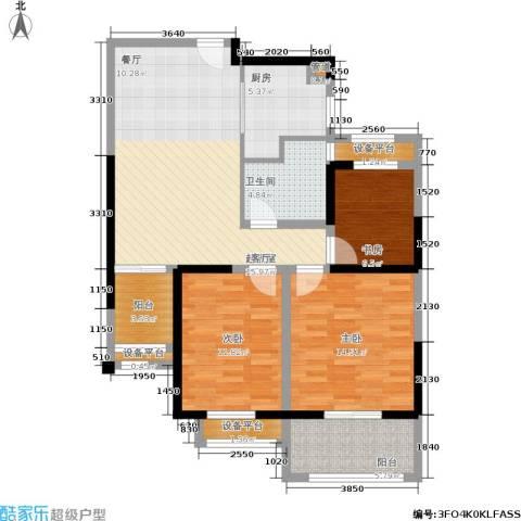 常发豪郡3室0厅1卫1厨95.00㎡户型图