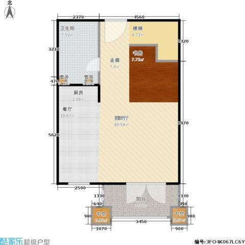 汤INN酒店式公寓1厅1卫0厨74.00㎡户型图