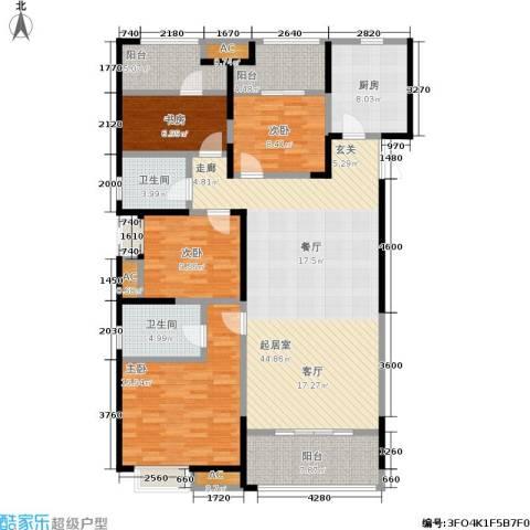 中大未来城4室0厅2卫1厨141.00㎡户型图