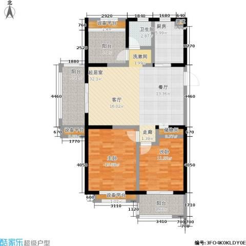 常发豪郡2室0厅1卫1厨106.00㎡户型图