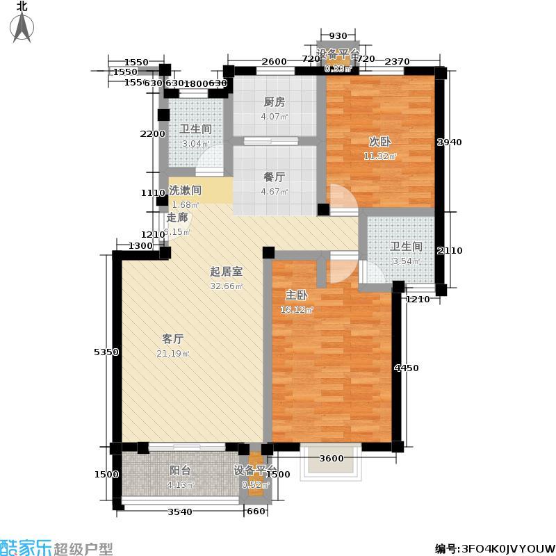 汇丰馨苑95.00㎡户型
