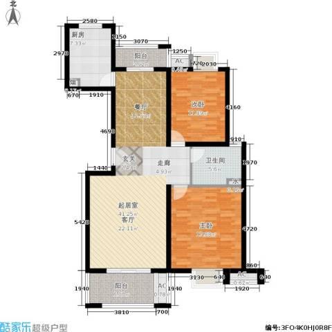 恒盛湖畔豪庭2室0厅1卫1厨109.00㎡户型图