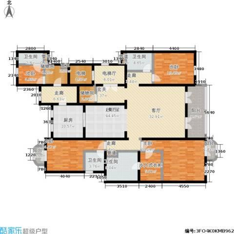 西郊庄园马德里洋房4室0厅4卫1厨220.00㎡户型图