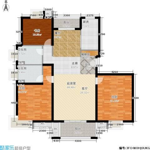 恒盛湖畔豪庭3室0厅2卫1厨149.00㎡户型图