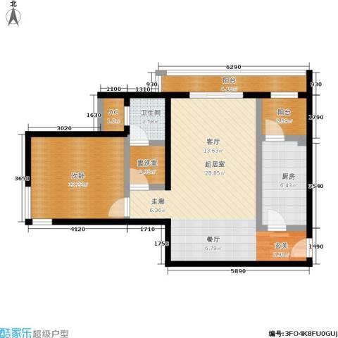 亮马新世家1室0厅1卫1厨91.00㎡户型图