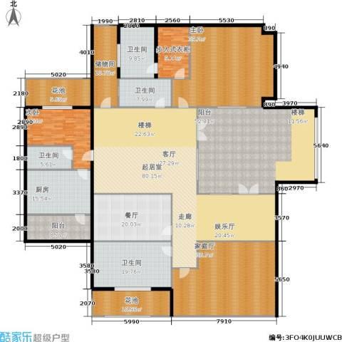 紫都上海晶园2室1厅4卫1厨380.00㎡户型图