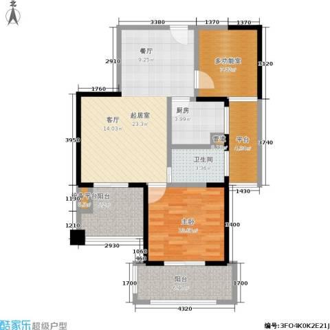 常发香城湾1室0厅1卫1厨75.00㎡户型图