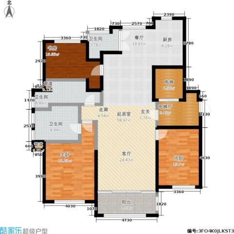 公馆773室0厅3卫0厨160.00㎡户型图