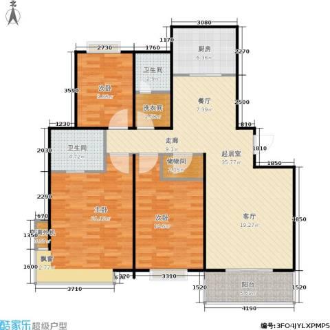 广厦水岸东方3室0厅2卫1厨127.00㎡户型图