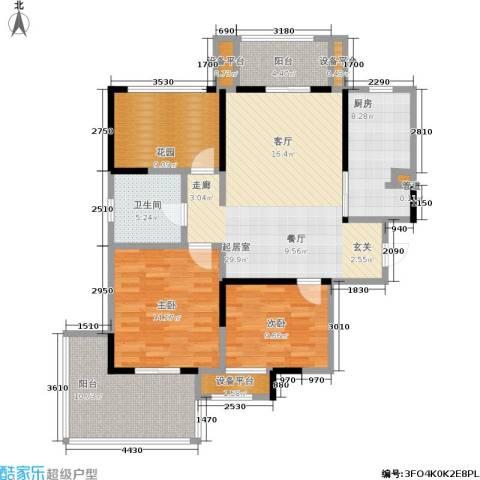 常发香城湾2室0厅1卫1厨108.00㎡户型图