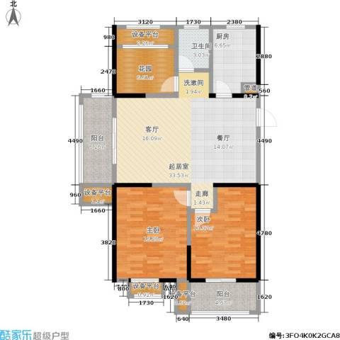 常发香城湾2室0厅1卫1厨109.00㎡户型图