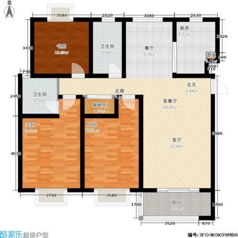自然居家园3室1厅2卫1厨127.81㎡户型图