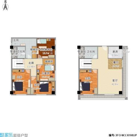 新发地4室1厅3卫1厨231.00㎡户型图
