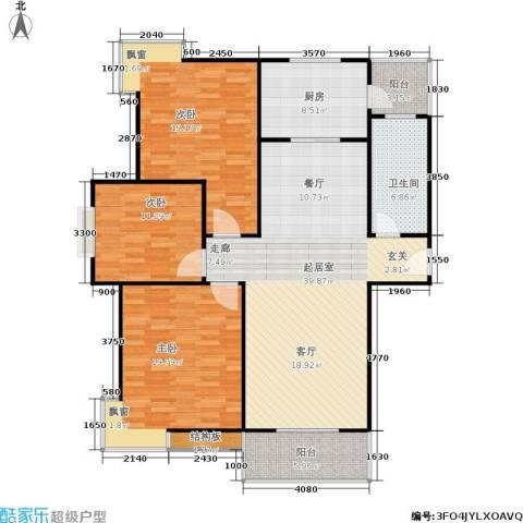 广厦水岸东方3室0厅1卫1厨124.00㎡户型图