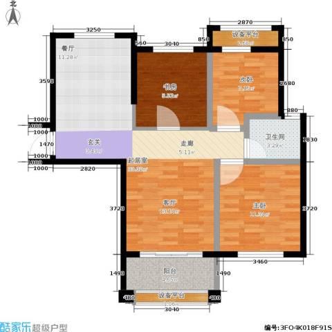 盈嘉香榴湾3室0厅1卫0厨81.00㎡户型图
