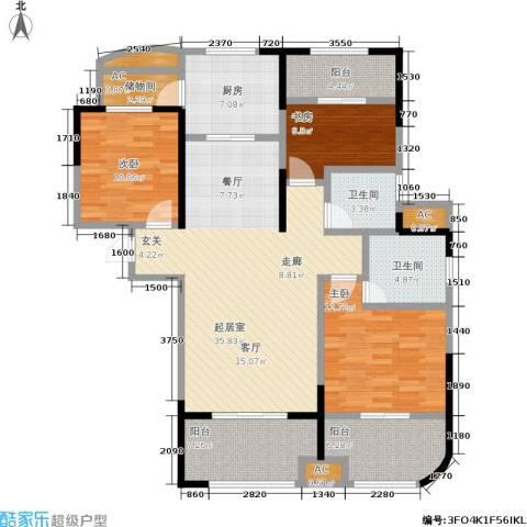 昆山颐景园3室0厅2卫1厨119.00㎡户型图