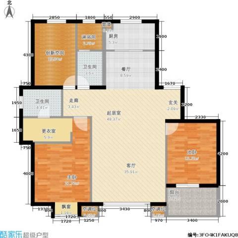 万科蓝山2室0厅2卫1厨133.00㎡户型图