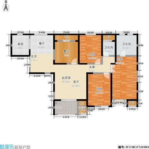 中大未来城3室0厅2卫1厨150.00㎡户型图