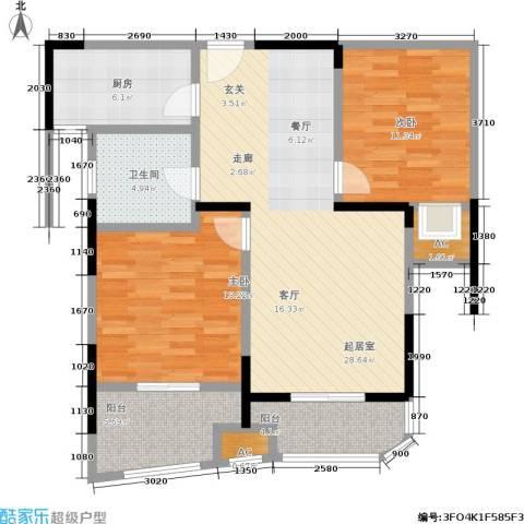 昆山颐景园2室0厅1卫1厨87.00㎡户型图