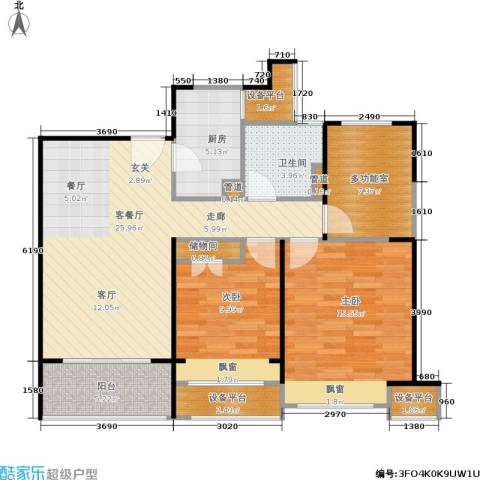 绿地21城滨江汇2室1厅1卫1厨87.00㎡户型图