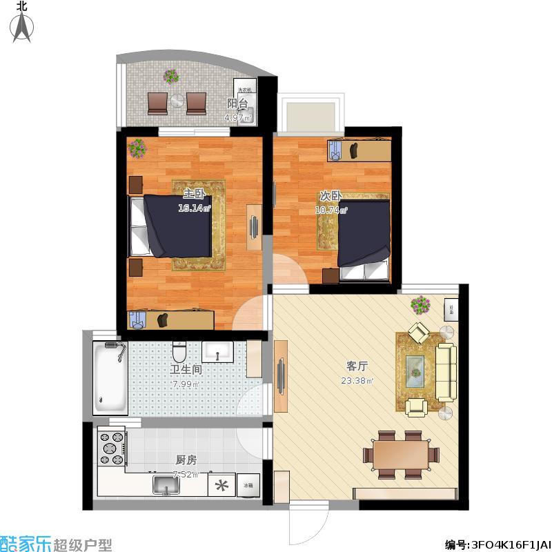 奕翔公寓的户型图
