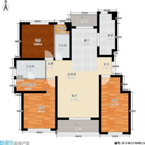 万科蓝山3室0厅2卫1厨160.00㎡户型图