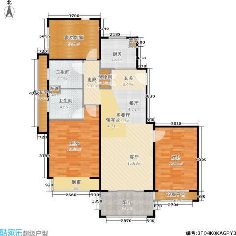 绿地21城滨江汇2室1厅2卫1厨110.00㎡户型图