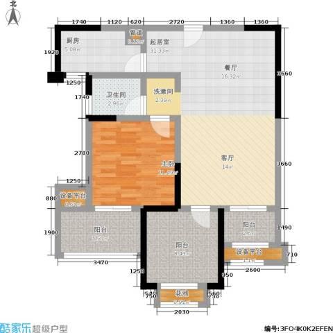 常发香城湾1室0厅1卫1厨83.00㎡户型图