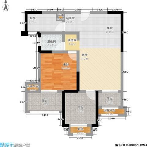 常发香城湾1室0厅1卫1厨79.00㎡户型图