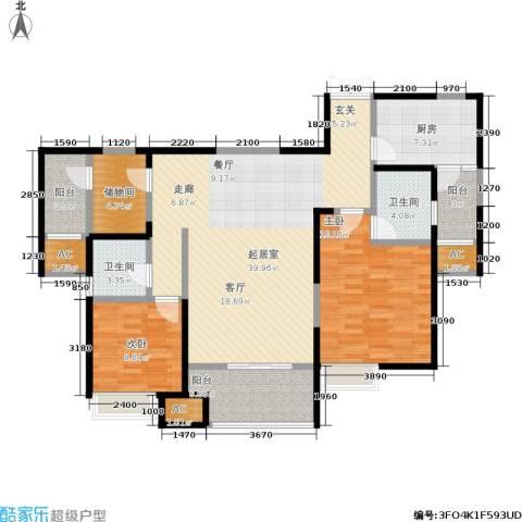 中大未来城2室0厅2卫1厨116.00㎡户型图