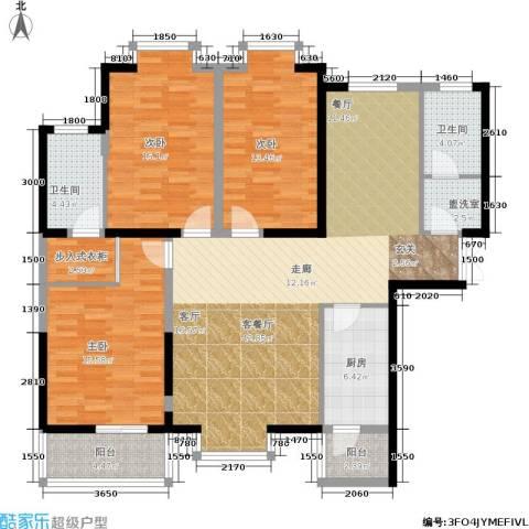 首府尚苑3室1厅2卫1厨147.00㎡户型图