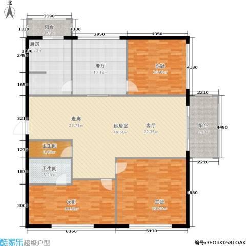 天通苑西一区3室1厅2卫1厨169.00㎡户型图
